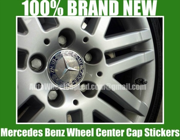 Mercedes benz blue silver star wheel center caps emblems for Mercedes benz wheel cap emblem