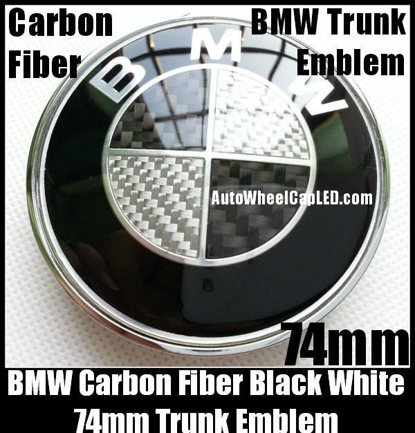 bmw carbon fiber black white oem trunk emblem roundel. Black Bedroom Furniture Sets. Home Design Ideas