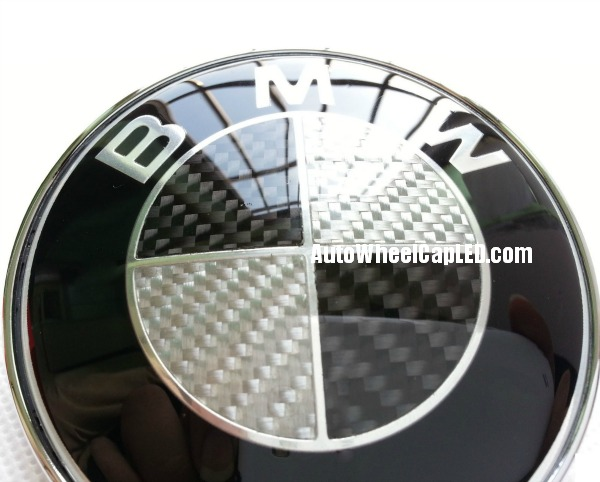 Bmw Carbon Fiber Black White Oem Trunk Emblem Roundel Badge 74mm 2pins Autowheelcapled Com