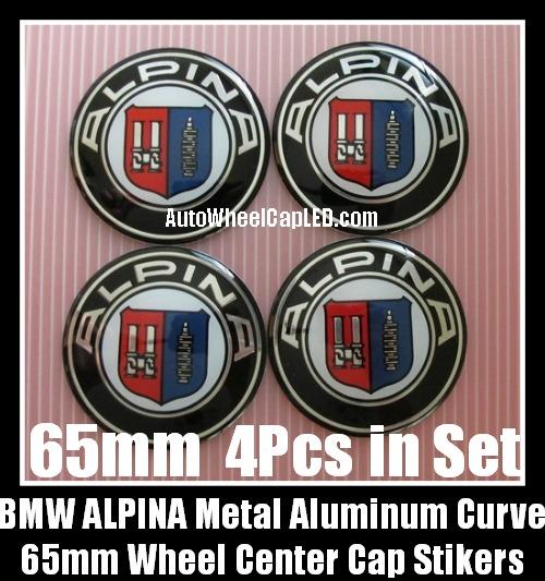 bmw alpina 65mm curve wheel center caps emblems stickers. Black Bedroom Furniture Sets. Home Design Ideas