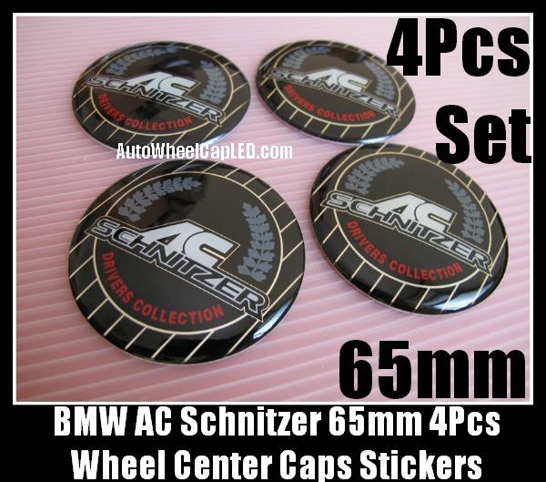 BMW AC Schnitzer Wheel Center Caps Emblems Stickers 65mm