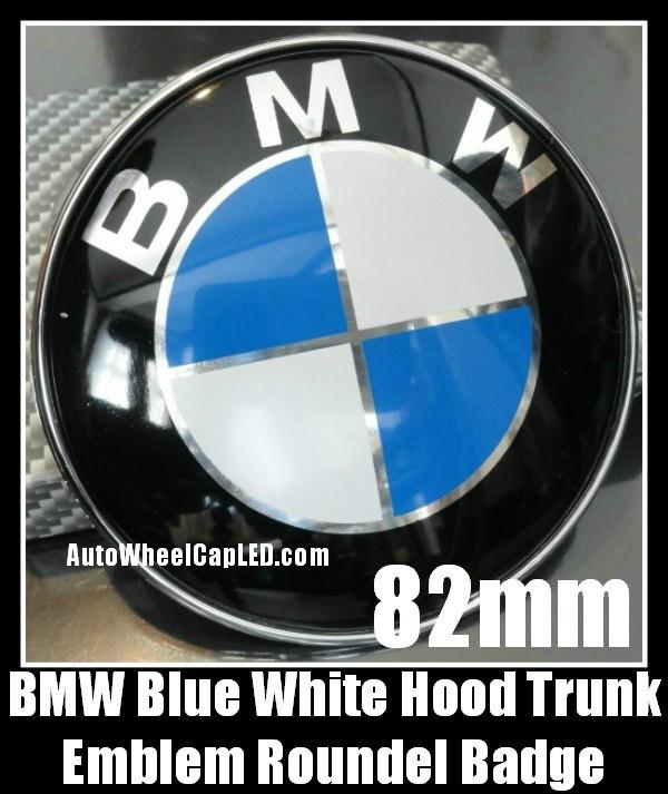 bmw e46 blue white hood trunk 82mm emblem roundel m3 330i. Black Bedroom Furniture Sets. Home Design Ideas