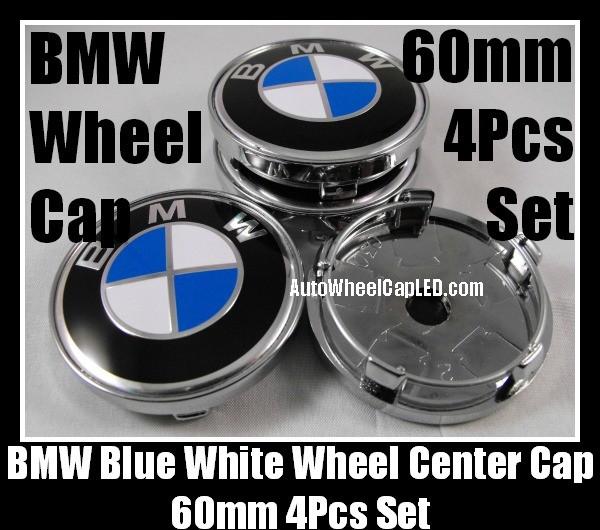 bmw classic blue white 60mm wheel center hubs caps. Black Bedroom Furniture Sets. Home Design Ideas