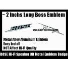 BOSE Hi-Fi Speaker 3D Metal Aluminum Emblem Badge Auto Car (2 Pieces)
