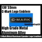 C-Mark Audio Hi-Fi Speaker Logo Emblem Badge 2 Piece Metal Aluminum Alloy Label Professional High Quality