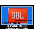 JBL Hi-Fi Speaker Orange Logo Emblem Front Badge 2Pcs High Quality ABS in Set