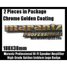 Marantz Professional Hi-Fi Speaker Logo Emblems Badges Golden Coating 2Pcs Set
