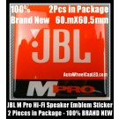 JBL M Pro MPro Hi-Fi Speaker Orange Logo Emblem Badge Label Stickers 2 Pcs in Package