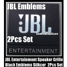 JBL Entertainment Hi-Fi Speakers Black Logo Emblems Badges Grille Stickers 2Pcs Set High-Grade Professional