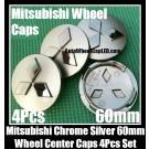Mitsubishi Outlander 3.0 Lancer EX Wheel Center Caps Chrome Silver 60mm 4Pcs Set XW0610-8