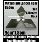 Mitsubishi Lancer Evolution Rear Badge Diamond Emblem Chrome Silver Trunk Boot