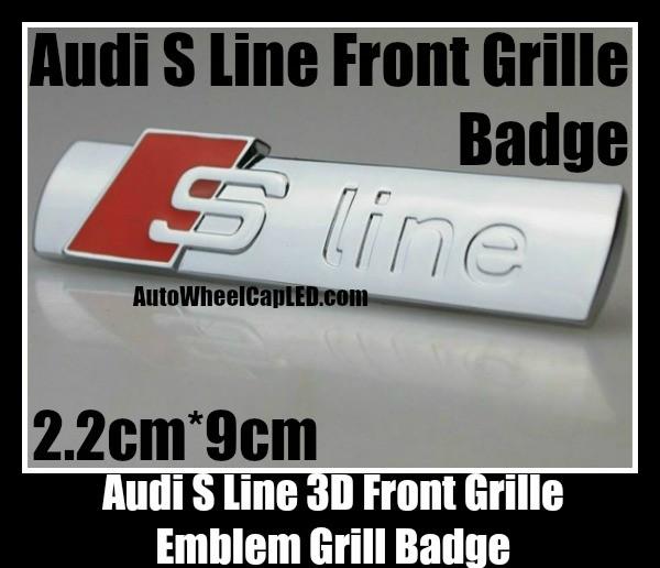 audi s line sline 3d front grille emblem grill badge. Black Bedroom Furniture Sets. Home Design Ideas