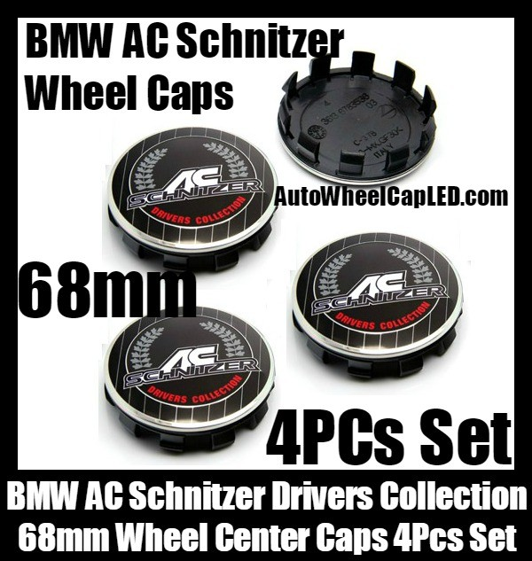 BMW AC Schnitzer Drivers Collection Wheel Center Caps 68mm