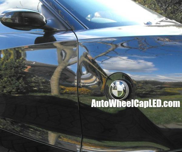 Bmw Z4 Black White Carbon Fiber 82mm Sides Light Repeaters Emblem Roundel Badge Self Adhesive