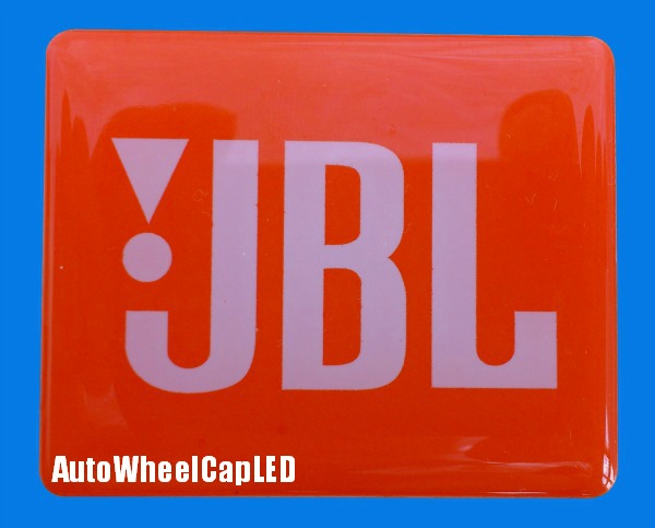 NEW~ 2Pcs JBL Orange Grille Emblems Hi-Fi Speaker Logo