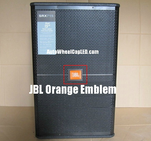 Jbl Hi Fi Speakers Orange Logo Emblems Badges Grille