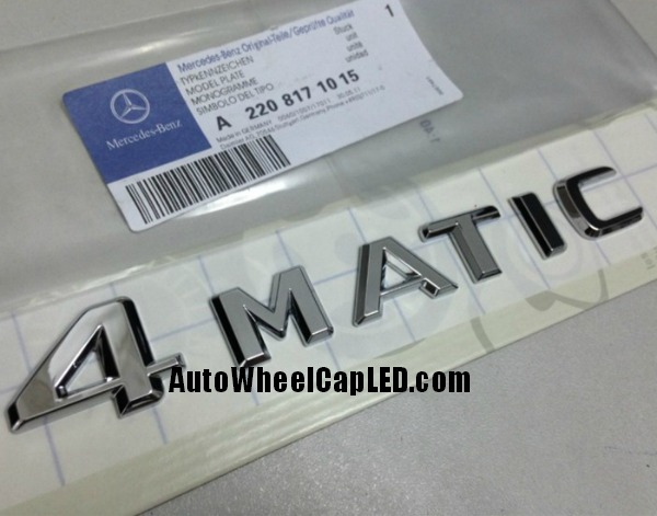 Mercedes benz 4matic chrome silver emblems letters rear for A mercedes benz product sticker