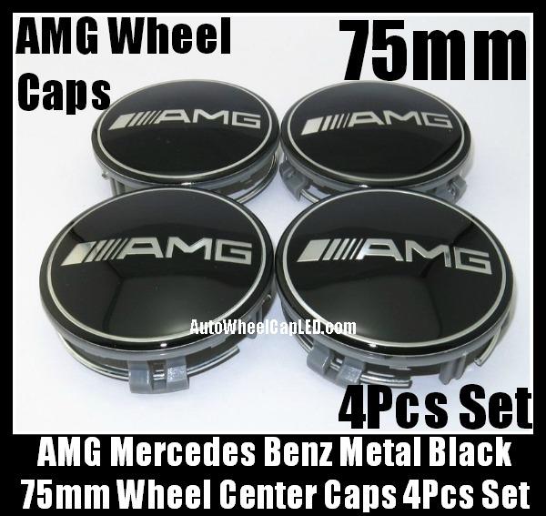 Amg mercedes benz devil black chrome silver wheel center for Mercedes benz center cap