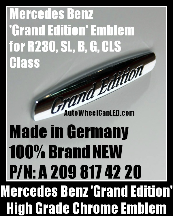Mercedes benz genuine grand edition emblem badge stickers for A mercedes benz product sticker