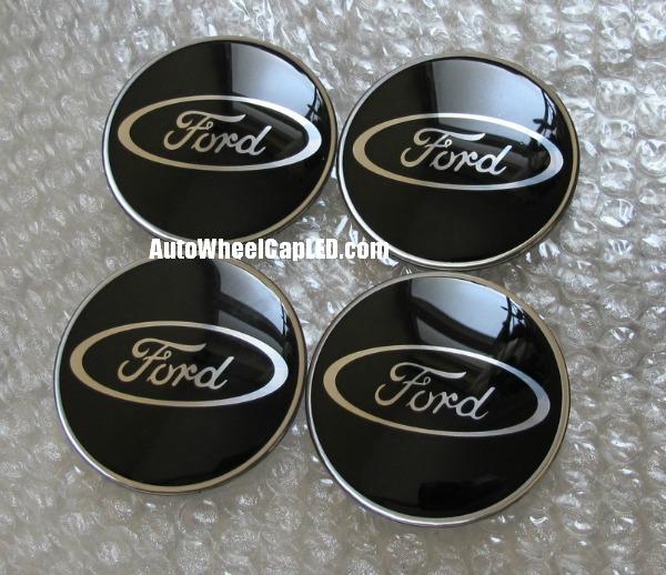 Ford Black Chrome Silver Wheel Center Cap Emblems Stickers