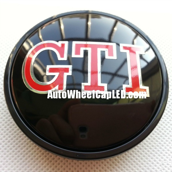 vw volkswagen devil black red gti wheel center caps emblems mm    golf bora jetta