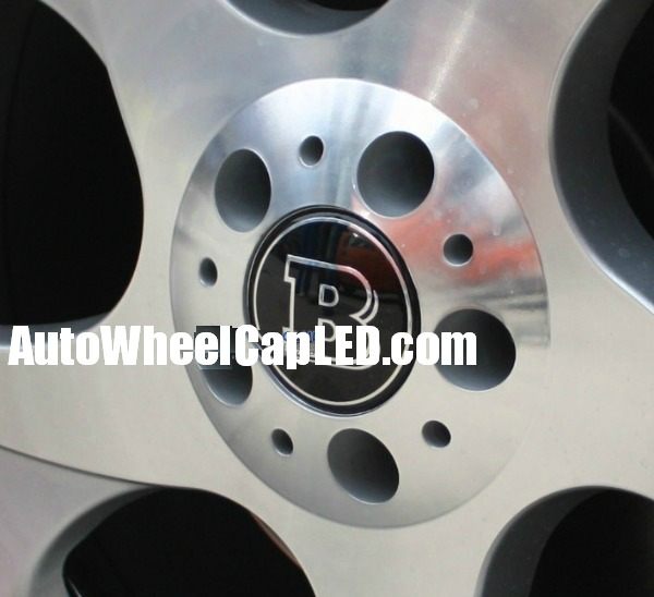Brabus mercedes benz black wheel center caps emblems hubs for Mercedes benz wheel cap emblem
