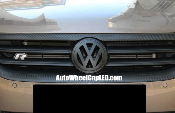 vw volkswagen full matte black front grille emblem badge. Black Bedroom Furniture Sets. Home Design Ideas