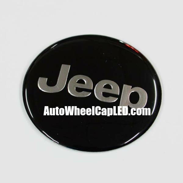 Jeep Devil Black Chrome Silver Wheel Center Caps Emblems