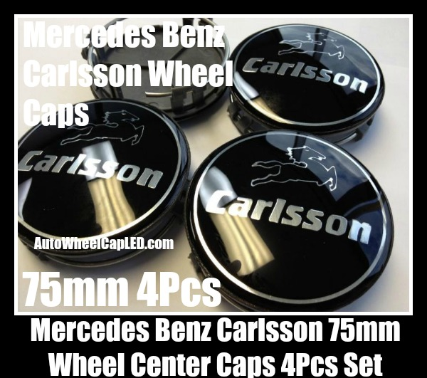 Carlsson mercedes benz devil black chrome silver wheel for Mercedes benz black center caps