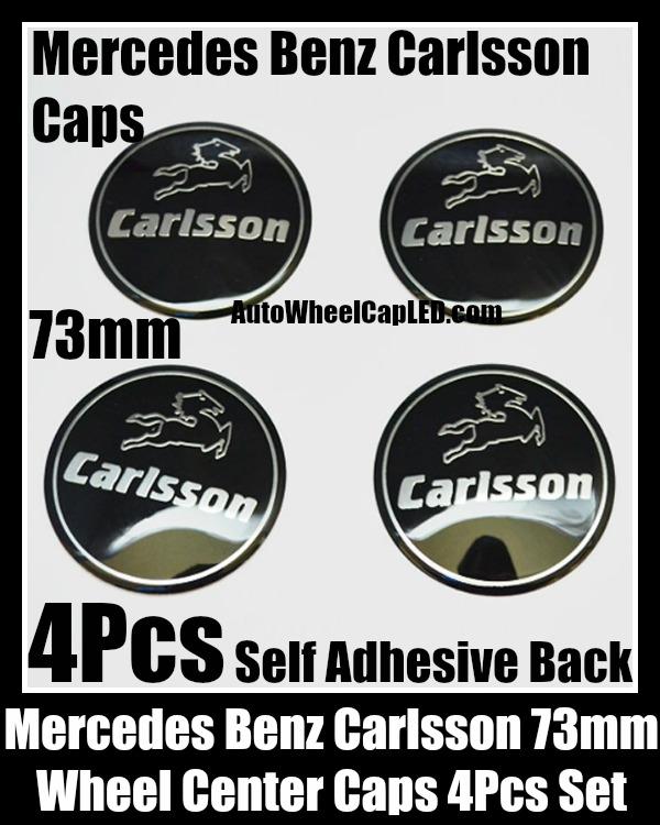 Carlsson mercedes benz black wheel center caps emblems for A mercedes benz product sticker