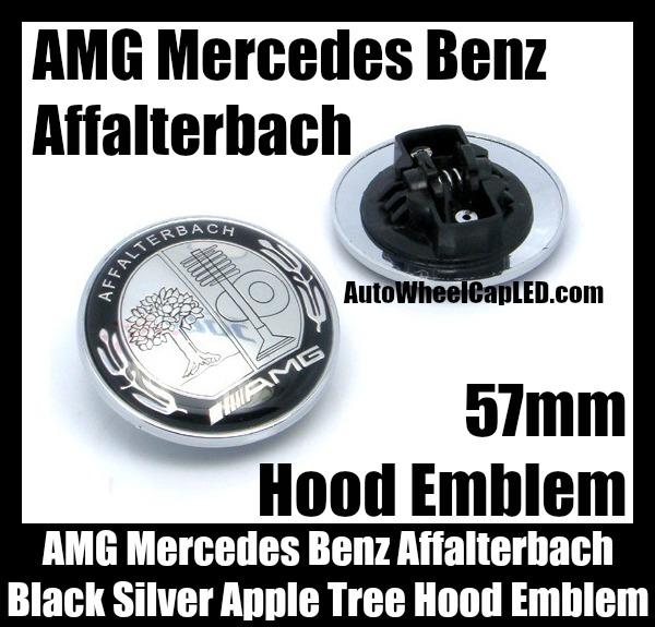 Amg mercedes benz affalterbach chrome silver apple tree for Mercedes benz amg emblem