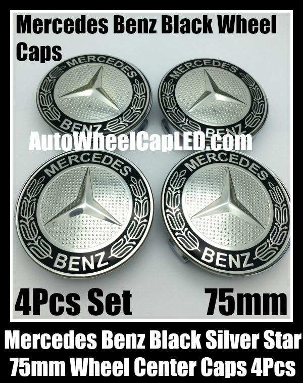 Ebluejay mercedes benz 75mm black chrome silver star for Mercedes benz payment center