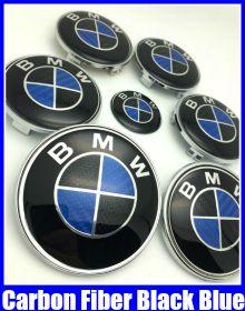 BMW Carbon Fiber Blue Black 7Pcs Full Set