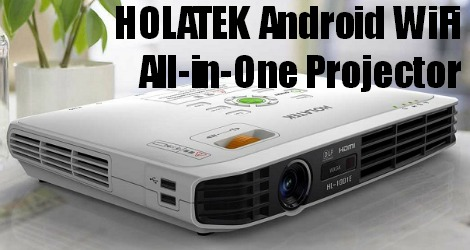 Holatek Android Wifi Internet DLP Projector HDMI LED 1000 Lumens Office Home Theatre 3D