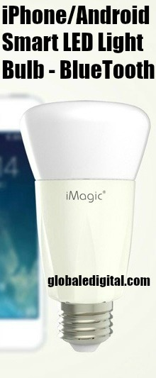 iMagic iPhone Android Smart LED Light Bulb Bluetooth Control Wireless Philip TI FCC CE UL