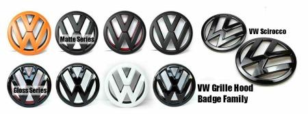 VW Volkswagen Grille Hood Badges Emblems - Golf 6 GTI GTIs R20 Passat Rabbit Scirocco