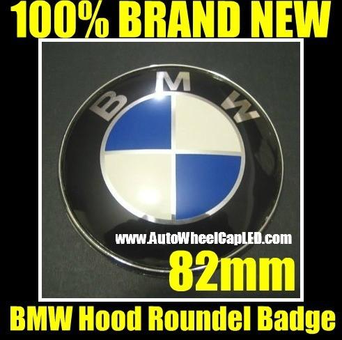 BMW OEM Trunk Hood Trunk Emblem Roundel 3D 82mm Original Blue/White Replacement