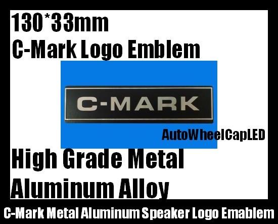 C-Mark Audio Hi-Fi Speaker Logo Emblem Badge 2 Piece Metal