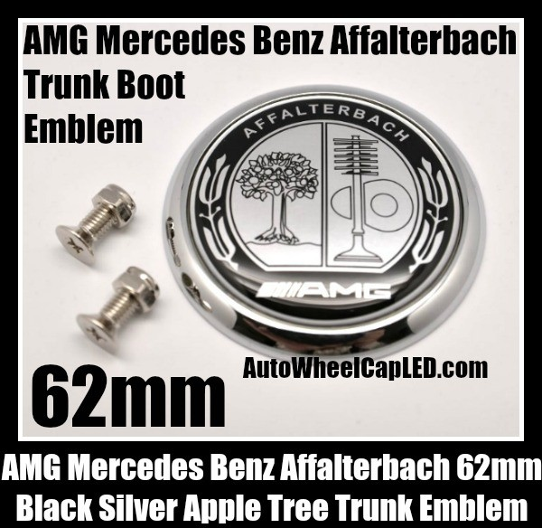 Amg mercedes benz affalterbach chrome silver apple tree for Mercedes benz trunk emblem