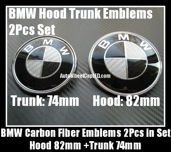 Vehicle Parts Accessories 82mm Bmw Black White Badge Boot Bonnet Guidohof