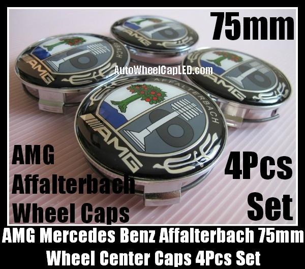 AMG Mercedes Benz Affalterbach Color Apple Tree Wheel Center Caps 75mm CLK ML GL SL CL E C 4Pcs Set