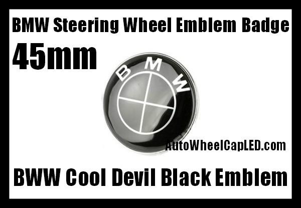 Bmw E38 Full Black Steering Wheel Horn Emblem Roundel