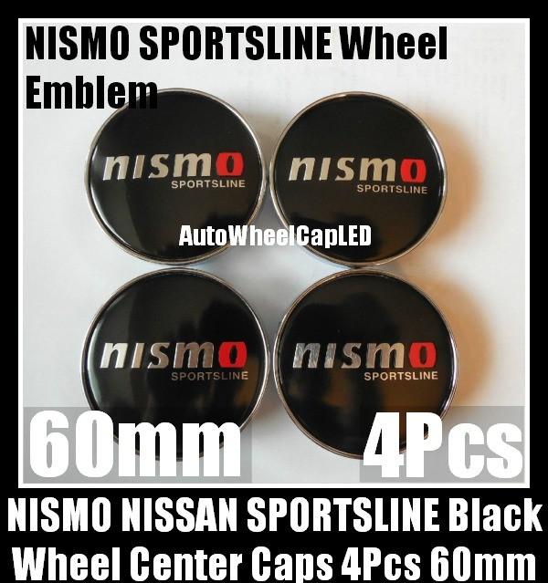 NISMO Sportsline Wheel Center Caps 60mm 4Pcs Hubs Roundels Emblems