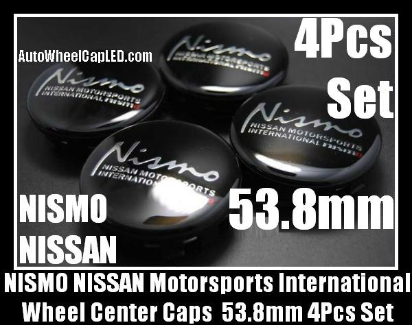 NISMO NISSAN Wheel Center Caps Emblems 53.8mm Motorsports International Fairlady Sentra Murano Maxima Altima 4Pcs Set