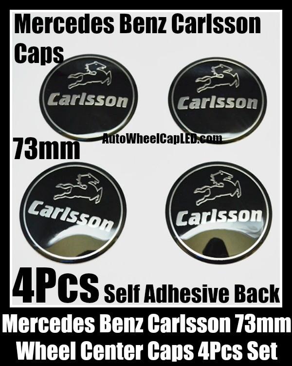 Carlsson mercedes benz black wheel center caps emblems for Mercedes benz logo stickers