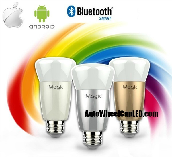 iMagic iPhone Android Smart LED Color Light Bulb Bluetooth Control Wireless Philip TI FCC CE UL
