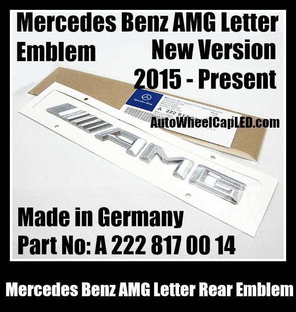 Mercedes benz amg 2015 letter emblems badges chrome silver for Mercedes benz amg emblem