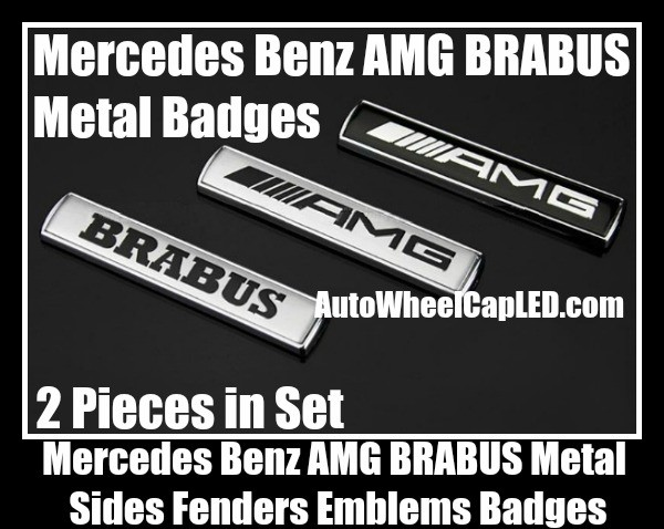 Mercedes benz amg brabus metal chrome silver black sides for Mercedes benz font download