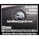 AMG Mercedes Benz Affalterbach Color Steering Wheel Center Emblem Badge Horn C E S SL Class Curve 52mm Sticker