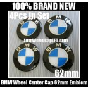 BMW Blue White Wheel Center Caps 62mm Emblems Stickers 4Pcs in Set